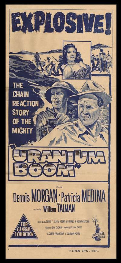 URANIUM BOOM Daybill Movie poster WILLIAM CASTLE