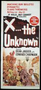 X THE UNKNOWN Daybill Movie poster Norman McMurray Artwork