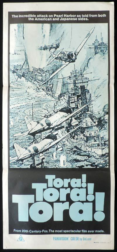 TORA TORA TORA, Original Daybill, Movie Poster, Attack on Pearl Habor