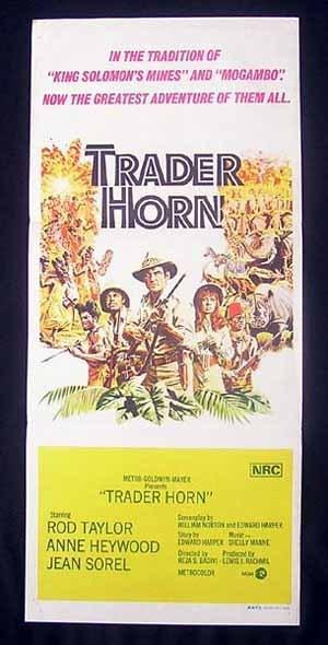 TRADER HORN Rod Taylor VINTAGE Original Daybill Movie Poster
