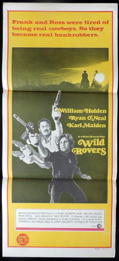 WILD ROVERS Daybill Movie Poster William Holden Ryan O'Neal
