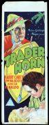 TRADER HORN Long Daybill Movie poster 1931 Harry Carey