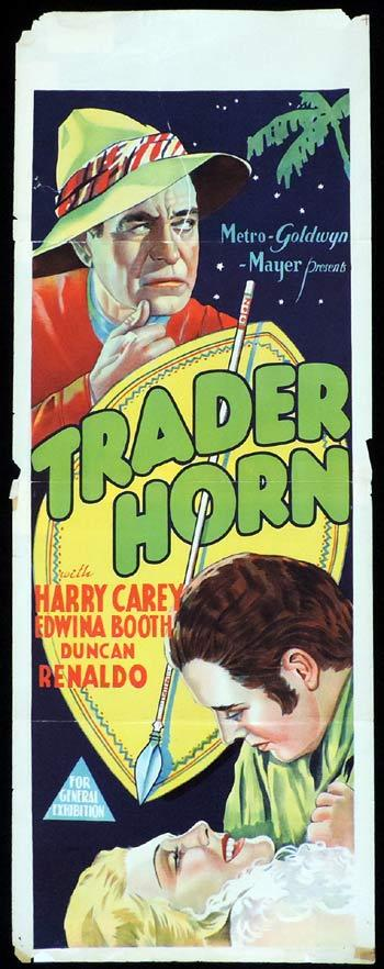 TRADER HORN Long Daybill Movie poster 1931 Harry Carey