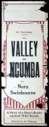 VALLEY OF NGUMBA Long Daybill Movie poster 1924 Nora Swinburne Silent Cinema