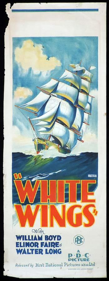 WHITE WINGS Yankee Clipper Long Daybill Movie poster 1928 Wynne W.Davies art