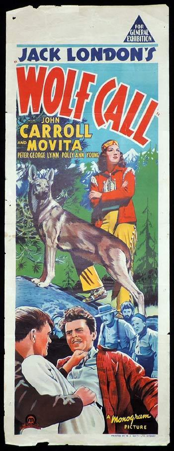 WOLF CALL Long Daybill Movie poster 1939 Jack London