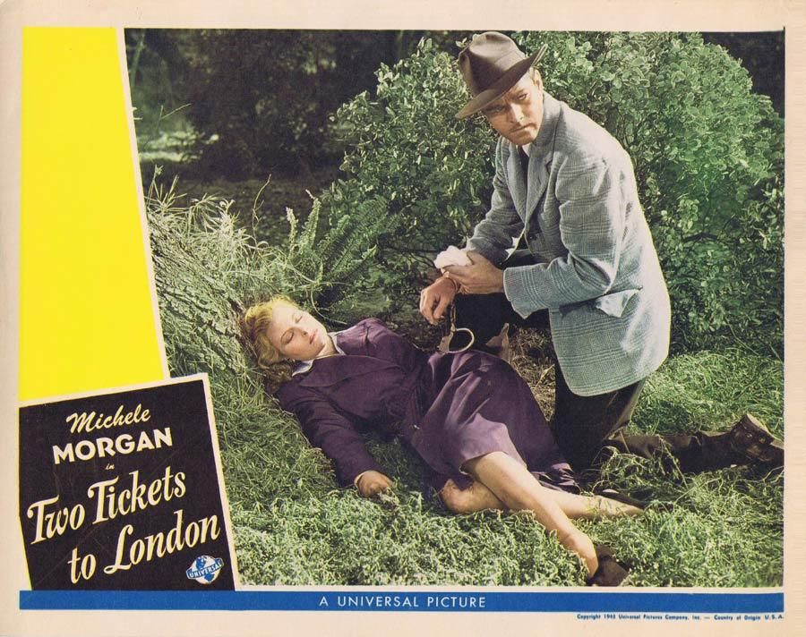 TWO TICKETS TO LONDON Lobby Card Michele Morgan Universal Picture