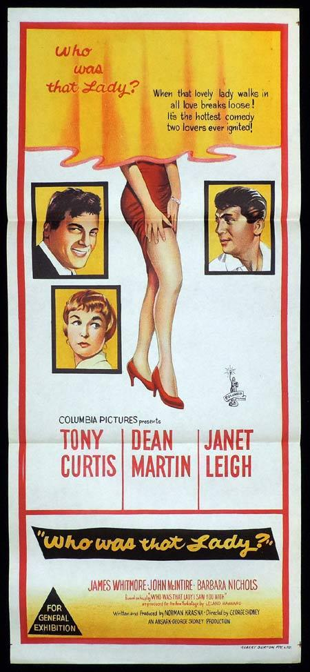 WHO WAS THAT LADY Original Daybill Movie Poster Dean Martin Tony Curtis