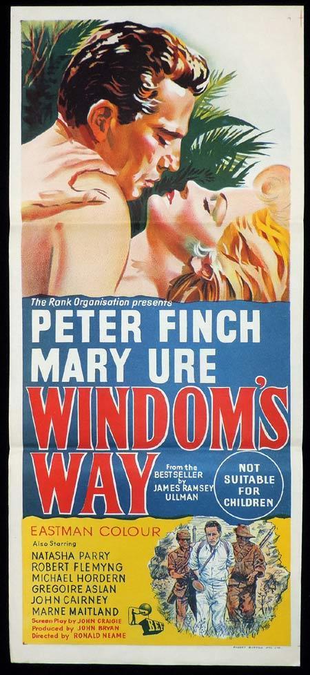 WINDOMS WAY Original Daybill Movie Poster Peter Finch