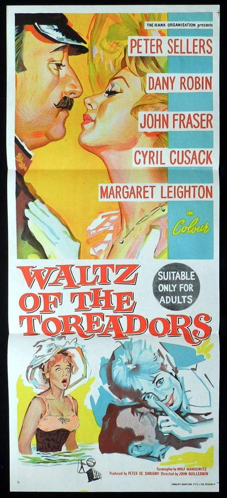 WALTZ OF THE TOREADORS Original Daybill Movie Poster Peter Sellers