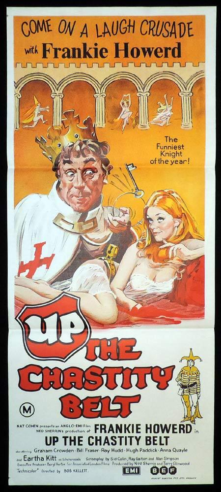 UP THE CHASTITY BELT Daybill Movie poster Frankie Howerd British Comedy