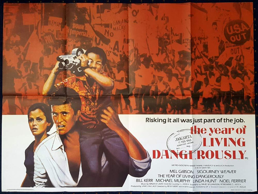YEAR OF LIVING DANGEROUSLY British Quad Movie Poster Mel GIbson
