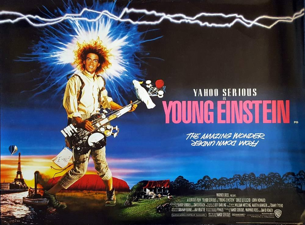 YOUNG EINSTEIN British Quad Movie poster Yahoo Serious