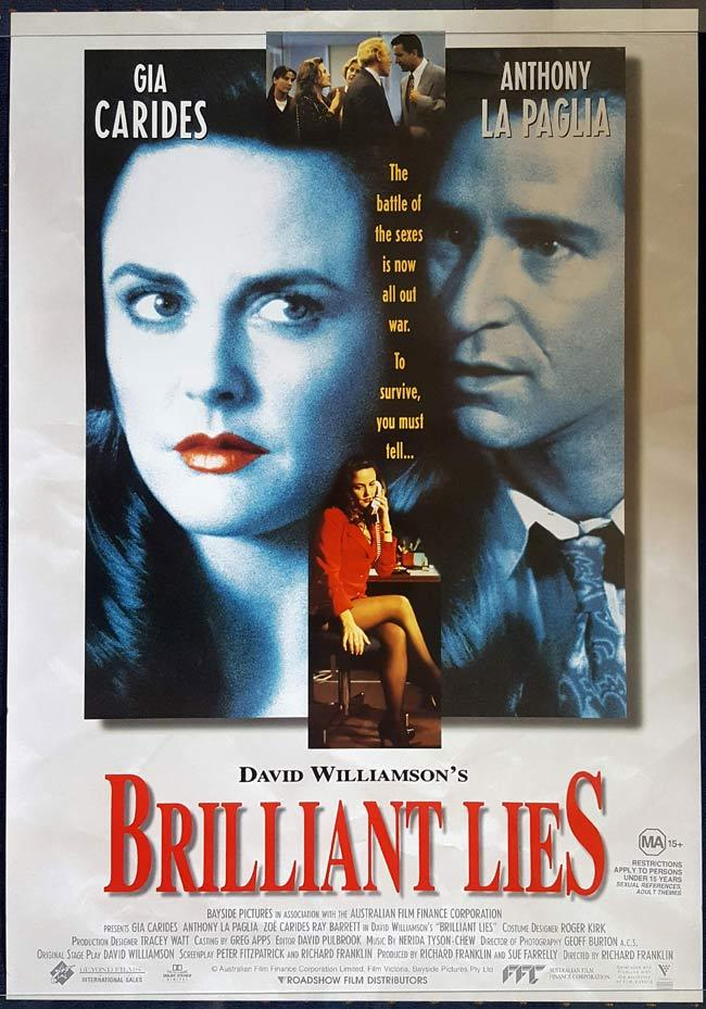 BRILLIANT LIES 1996 Australian Cinema ONE SHEET Movie poster