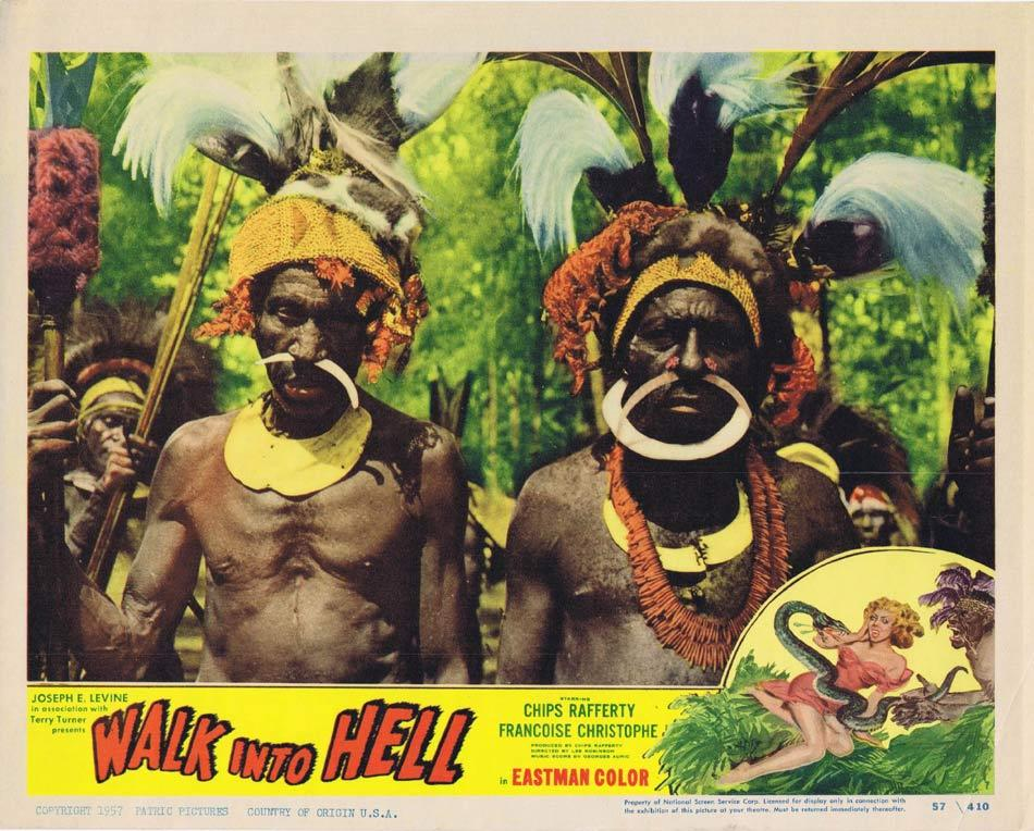 WALK INTO HELL aka WALK INTO PARADISE Lobby Card 3 New Guinea Tribesmen