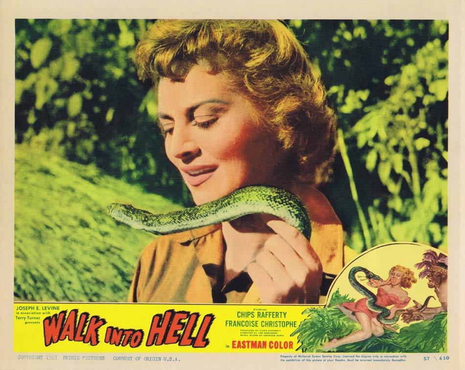 WALK INTO HELL aka WALK INTO PARADISE Lobby Card 5 Françoise Christophe 1956