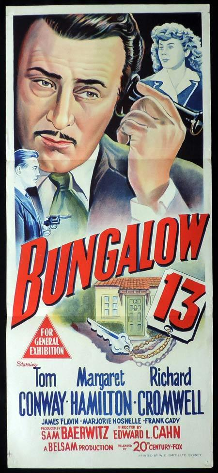 BUNGALOW 13 Original Daybill Movie Poster Tom Conway