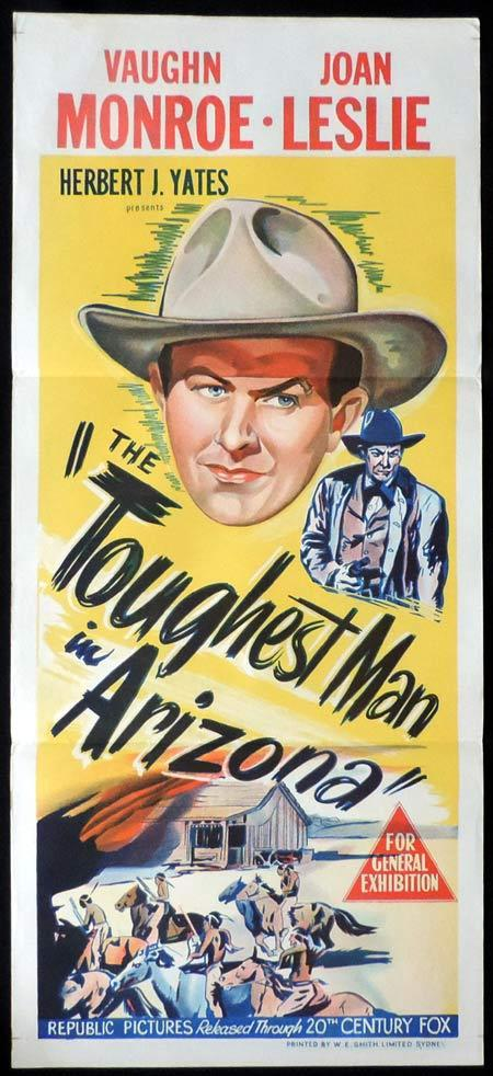 TOUGHEST MAN IN ARIZONA Original Daybill Movie Poster Vaughn Monroe