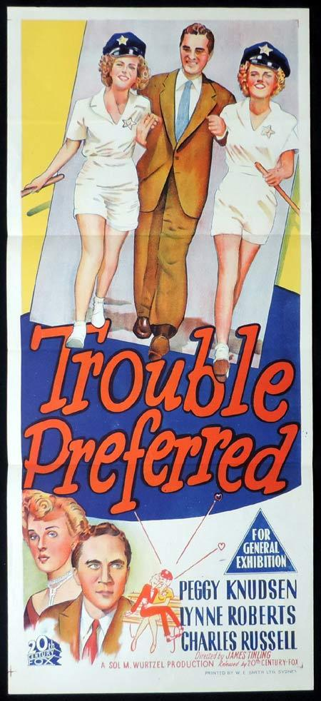 TROUBLE PREFERRED Original Daybill Movie Poster Brian Donlevy Ann Richards