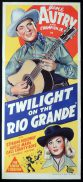 TWILIGHT ON THE RIO GRANDE Original Daybill Movie Poster Gene Autry