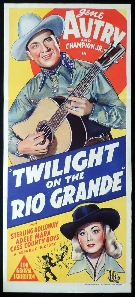 TWILIGHT ON THE RIO GRANDE Original Daybill Movie Poster Gene Autry
