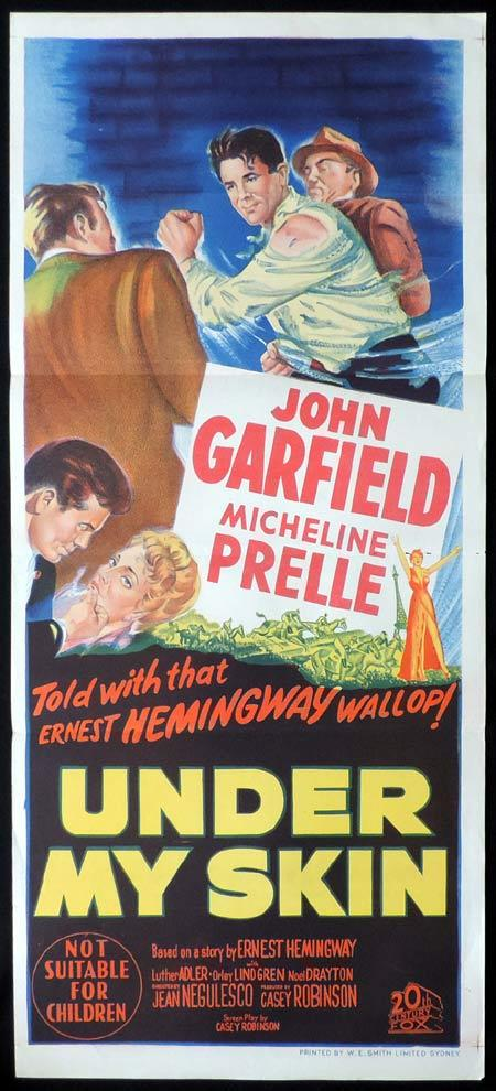 UNDER MY SKIN Original Daybill Movie Poster John Garfeild