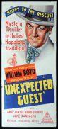 UNEXPECTED GUEST Original Daybill Movie Poster William Boyd Hopalong Cassidy