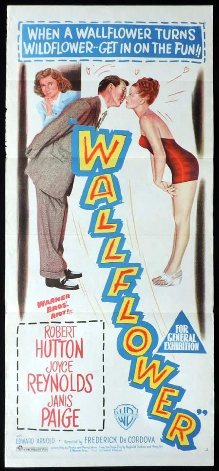 WALLFLOWER Original Daybill Movie Poster Robert Hutton Janis Paige