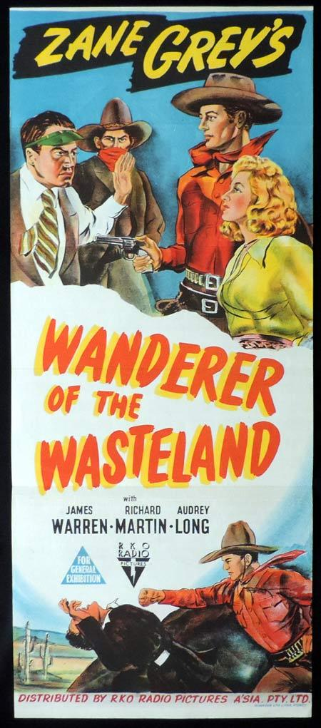 WANDERER OF THE WASTELAND Original Daybill Movie Poster Zane Grey RKO