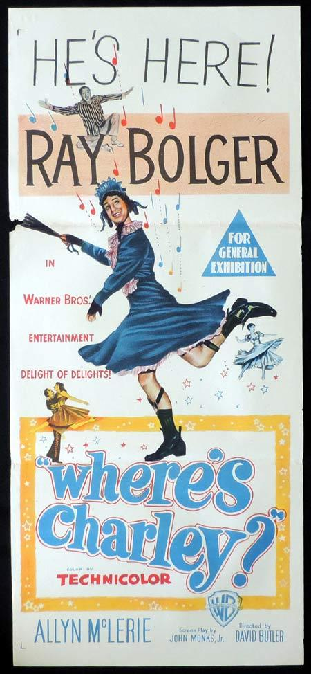 WHERE'S CHARLEY Original Daybill Movie Poster Ray Bolger