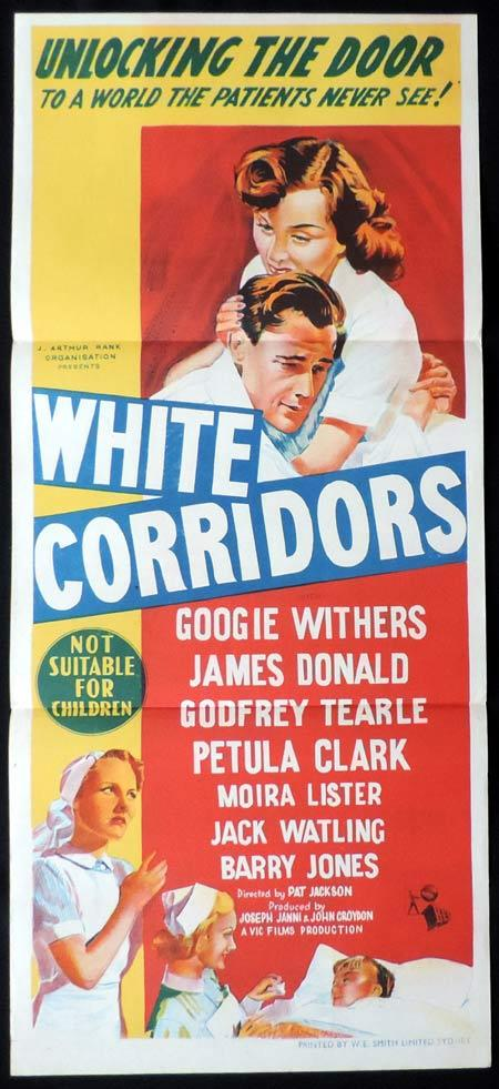 WHITE CORRIDORS Original Daybill Movie Poster Googie Withers
