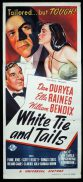 WHITE TIE AND TAILS Original Daybill Movie Poster Dan Duryea Ella Raines Film Noir