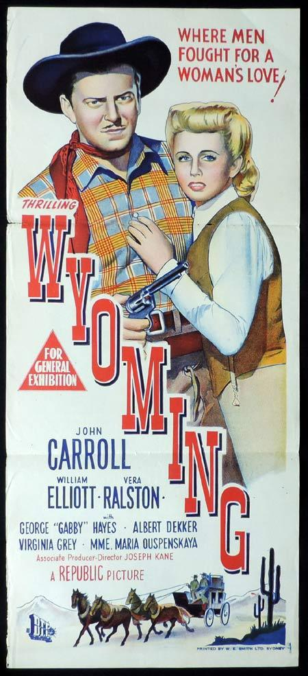 WYOMING Original Daybill Movie Poster Bill Elliott Vera Ralston
