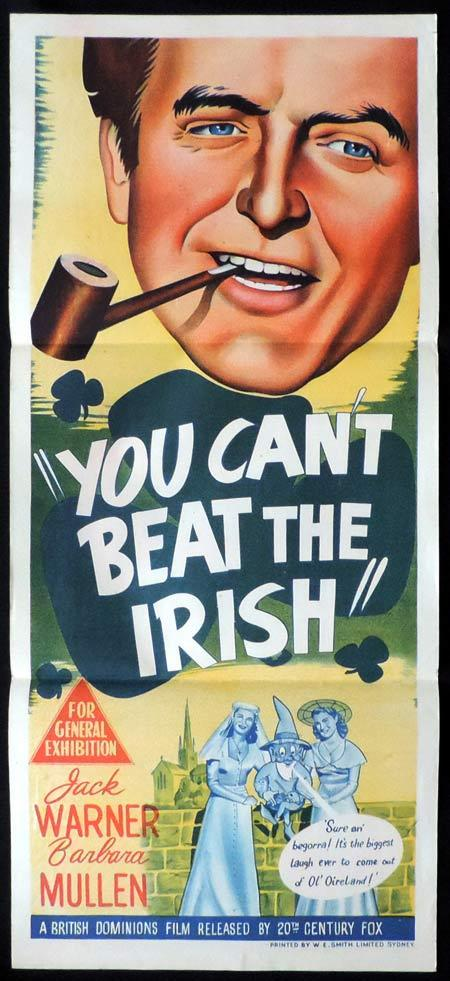 YOU CAN'T BEAT THE IRISH Original Daybill Movie Poster Jack Warner British Comedy