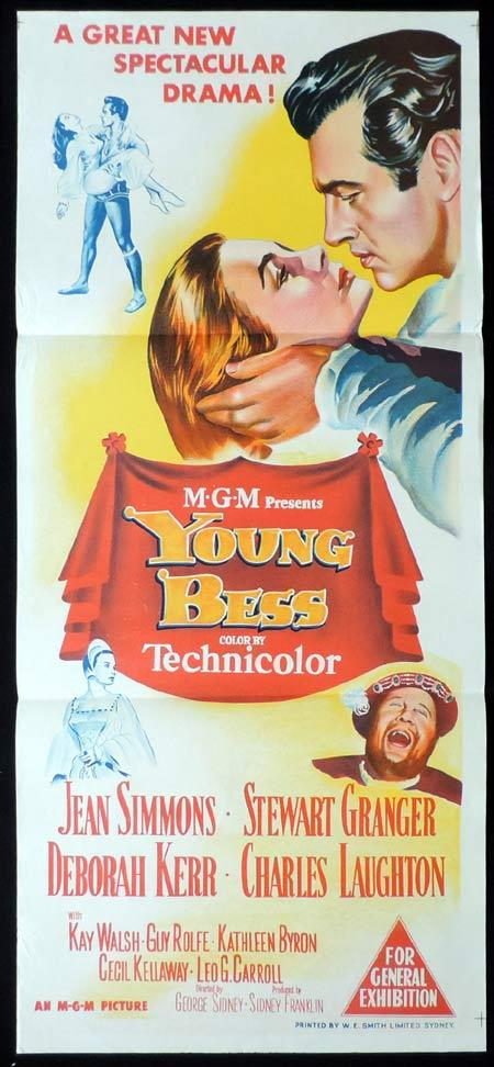 YOUNG BESS Original Daybill Movie Poster Stewart Granger Deborah Kerr
