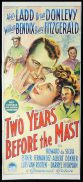 TWO YEARS BEFORE THE MAST Original Daybill Movie Poster ALAN LADD Brian Donlevy Richardson Studio