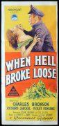 WHEN HELL BROKE LOOSE Original Daybill Movie Poster CHARLES BRONSON RIchard Jaeckel Richardson Studio
