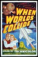 WHEN WORLDS COLLIDE Original One sheet Movie Poster SCI FI Classic