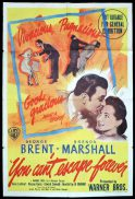 YOU CANT ESCAPE FOREVER Original One sheet Movie Poster George Brent Brenda Marshall