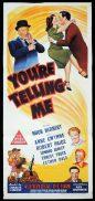 YOU'RE TELLING ME Original Daybill Movie Poster Hugh Herbert Anne Gwynne