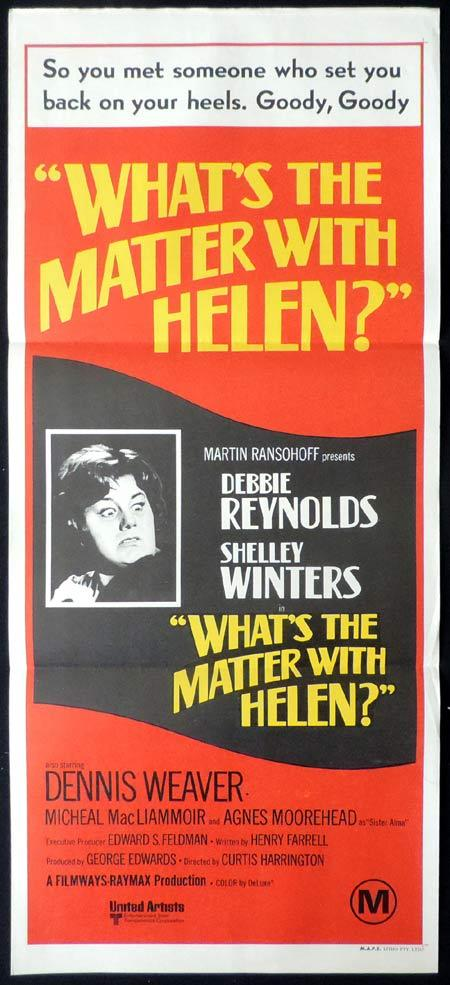 WHATS THE MATTER WITH HELEN Original Daybill Movie Poster Debbie Reynolds Shelley Winters Dennis Weaver