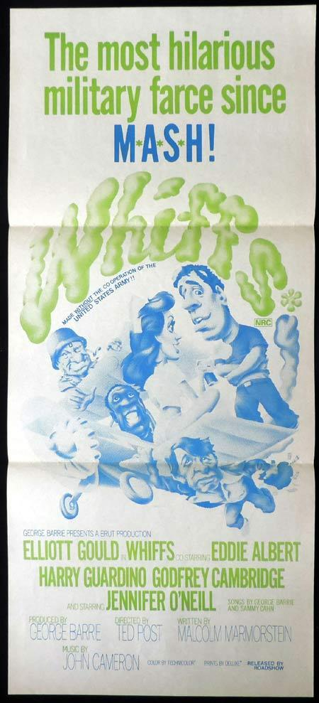 WHIFFS Original daybill Movie Poster Elliott Gould Eddie Albert Harry Guardino