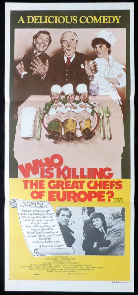 WHO IS KILLING THE GREAT CHEFS OF EUROPE Original Daybill Movie Poster George Segal Jacqueline Bisset