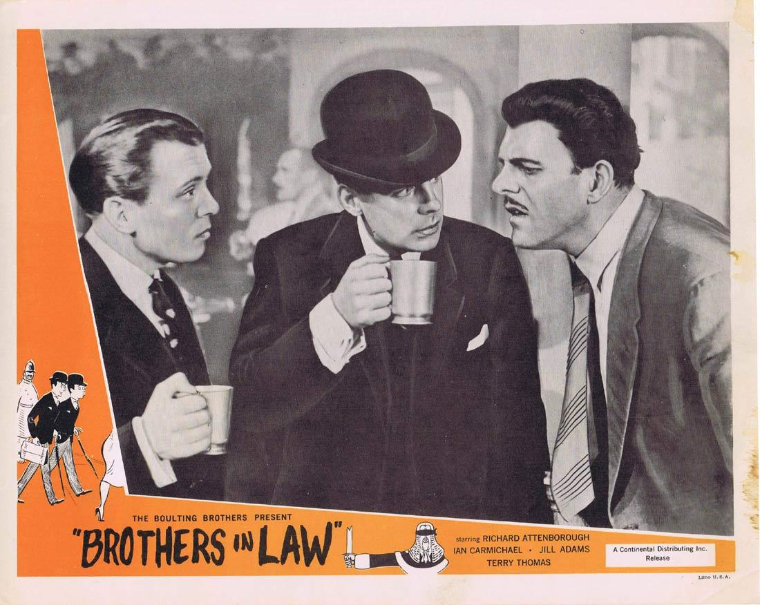 BROTHERS IN LAW Lobby Card Richard Attenborough Ian Carmichael Terry-Thomas
