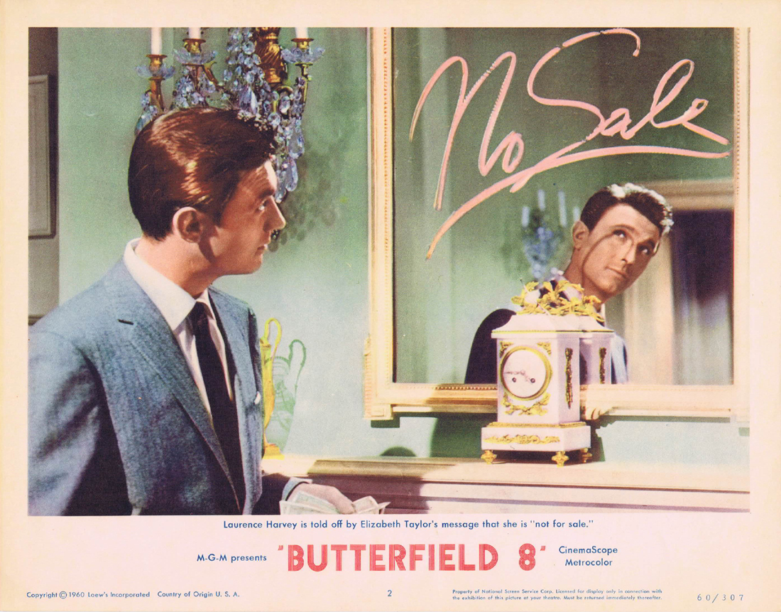 BUTTERFIELD 8 Lobby Card 2 Elizabeth Taylor Laurence Harvey