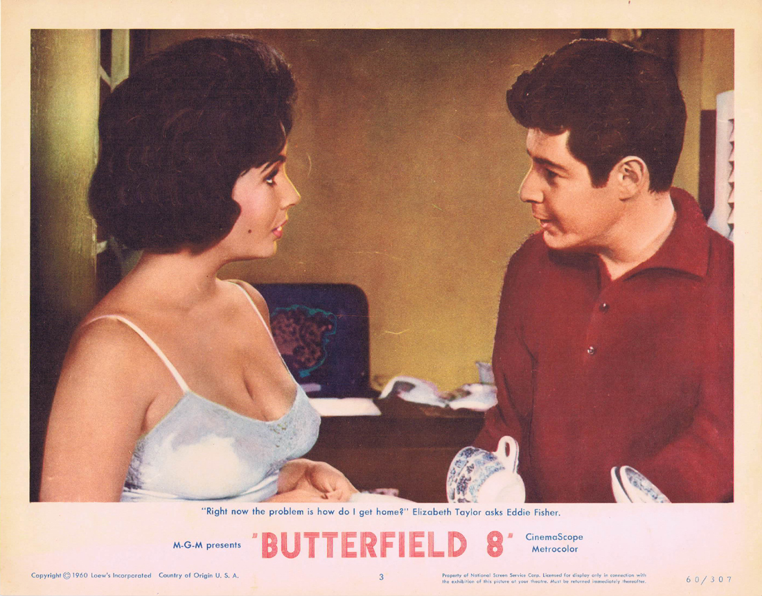BUTTERFIELD 8 Lobby Card 3 Elizabeth Taylor Eddie Fisher Laurence Harvey