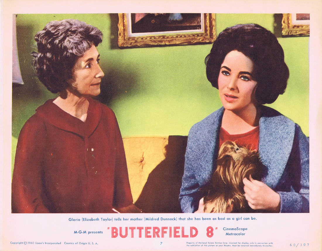 BUTTERFIELD 8 Lobby Card 7 Elizabeth Taylor Eddie Fisher Laurence Harvey