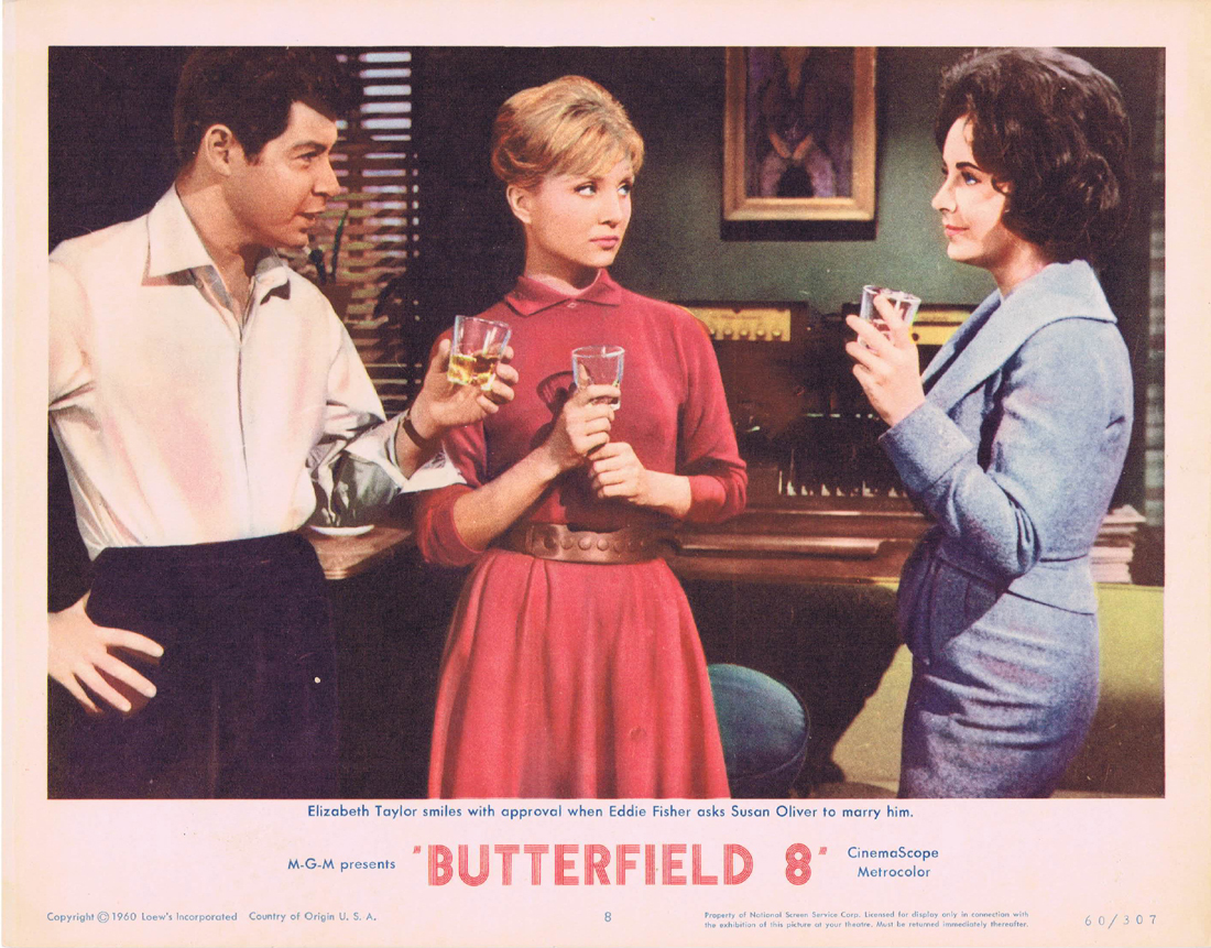 BUTTERFIELD 8 Lobby Card 8 Elizabeth Taylor Laurence Harvey