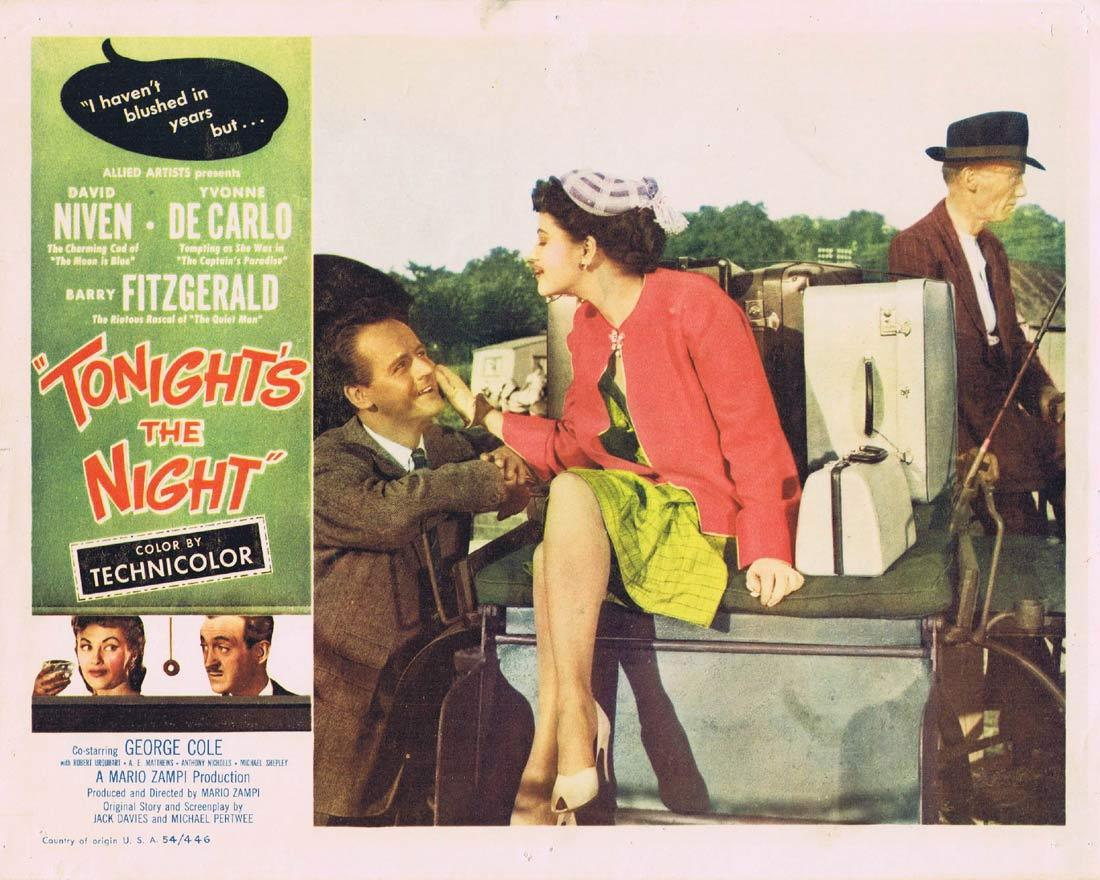 TONIGHT'S THE NIGHT Lobby Card David Niven Yvonne De Carlo Barry Fitzgerald