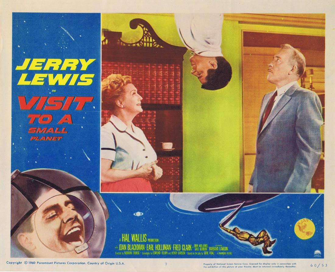 VISIT TO A SMALL PLANET Lobby Card 7 Jerry Lewis Joan Blackman